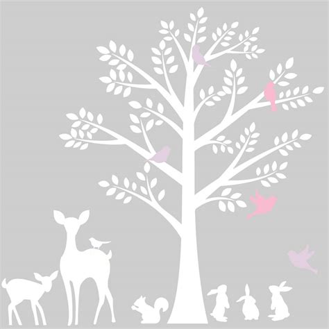 tree wall sticker vintage tree wall stickers by littleprints