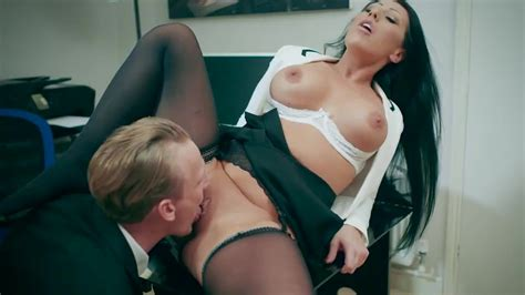 Horny Brunette Milf Wild Scenes Of Sex At The Office