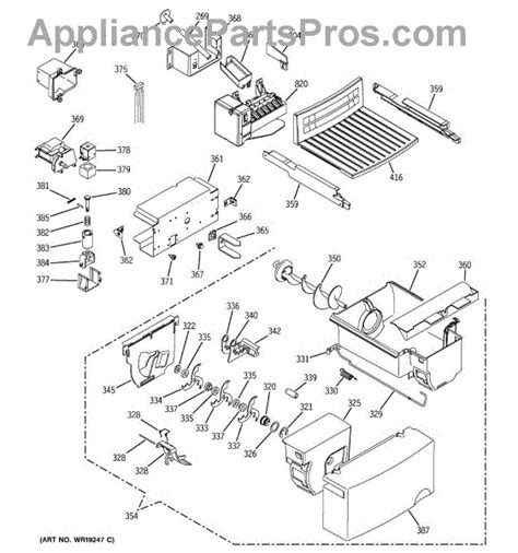 ge refrigerator maker parts diagram parts for ge gsl25jfpabs maker dispenser parts