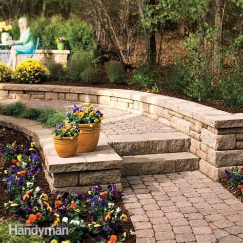 build  stone path  steps  family handyman