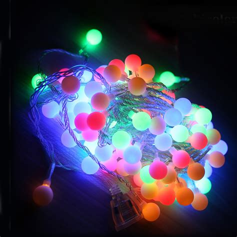 christmas decorative light balls tanbaby 10m led string lights with 80led ball ac220v