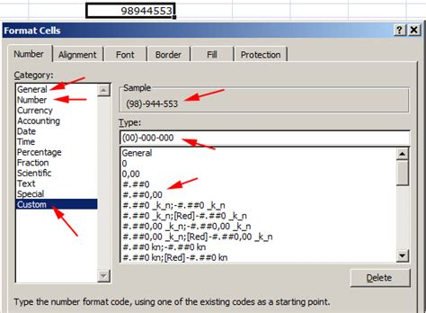 excel 2007 custom format format brojeva i oblikovanje brojeva u excelu custom