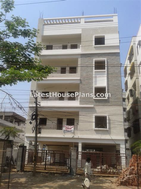 small four floor apartment elevations in hyderabad