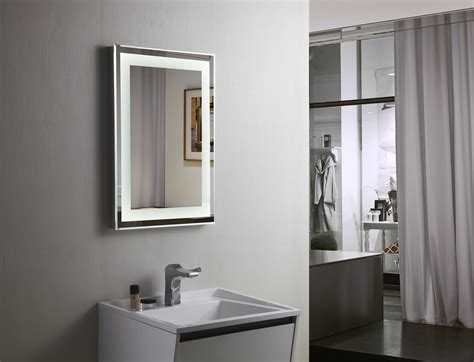 lighted mirrors for bathrooms budapest lighted vanity mirror led bathroom mirror