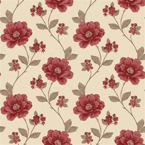 red floral wallpaper  walls