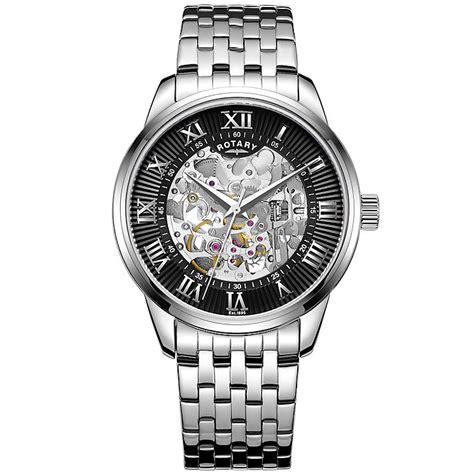rotary s black stainless steel bracelet h