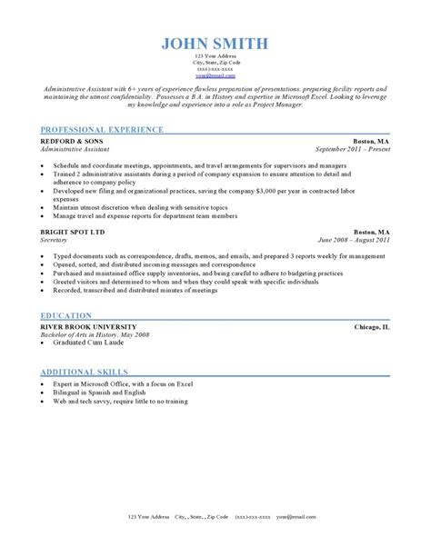 Resume Format Layout by Resume Formats Jobscan