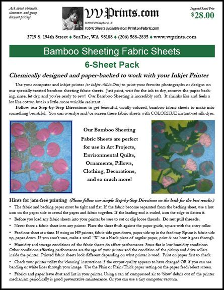 printable fabric sheets washable bamboo inkjet fabric sheets washable