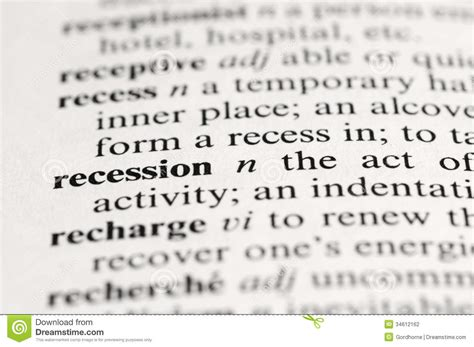 receding definition receding definition of receding by the free dictionary recession stock photography image 34612162