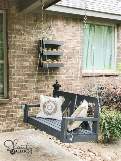 make your own porch swing diy front porch swing