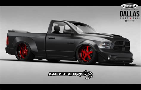 Ram Truck Hellcat by Hellcat Powered Ram With 775hp Ready To Burn It Up