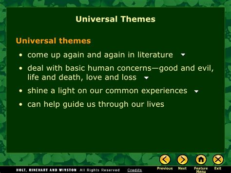 themes in literature about nature theme