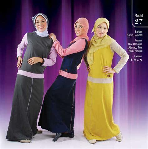 Gamis Biru Dongker Merah Muda busana muslim qirani