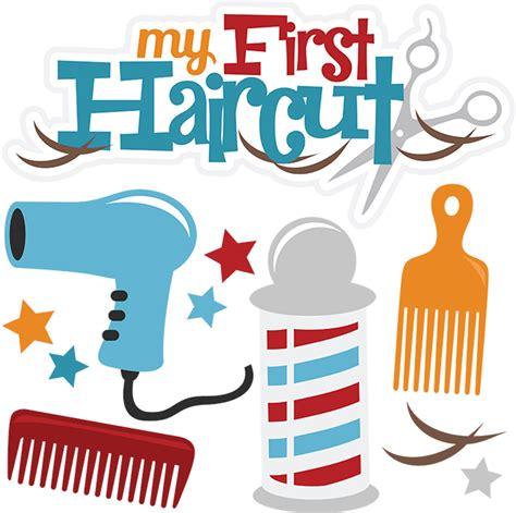 haircut clipart free my first haircut svg cut files for scrabpooking haircut