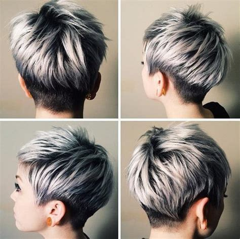 blonde red brown ombre ed  highlighted pixie cuts   taste