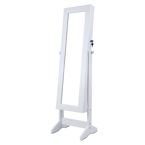 free standing jewelry armoire mirror mirrored armoire jewelry cabinet mirror organizer storage