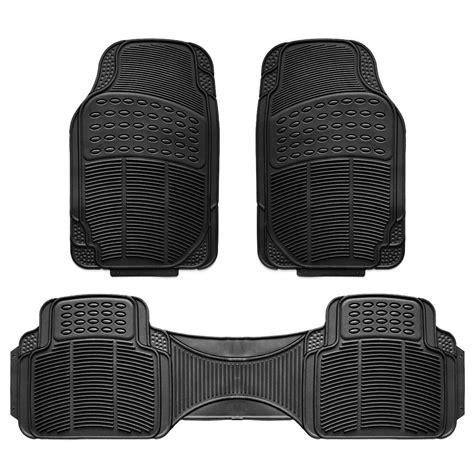 pc car floor mat universal set carpet mats rugs truck suv deluxe rubber black ebay
