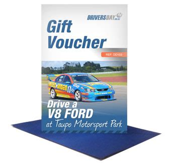 Experience Gift Cards - v8 ford driving experience at taupo motorsport park drivers day