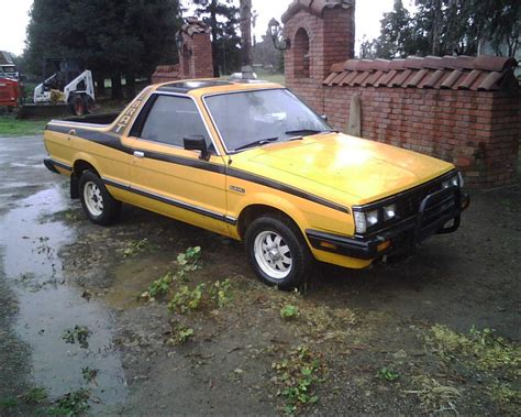 1986 subaru brat 1986 subaru brat black stripeyellow paint guelph on owned