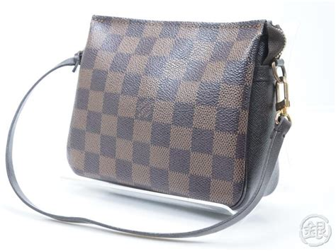Lv Pouch W Handle auth pre owned louis vuitton lv damier trousse make up