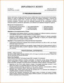 Resume Exle It by 5 It Resume Exles Budget Template Letter