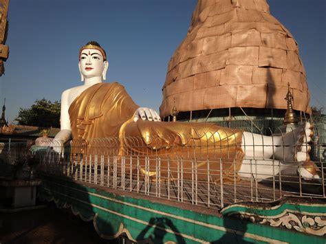 Reclining Buddha Myanmar by Meilamu Pagoda Reclining Buddha Yangon Myanmar 01