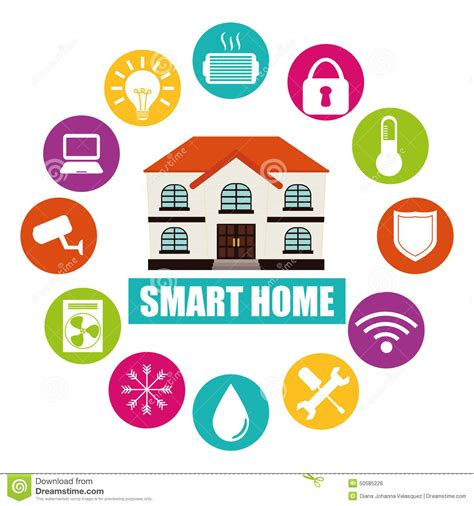 smart design smart home stock illustration image 50585226