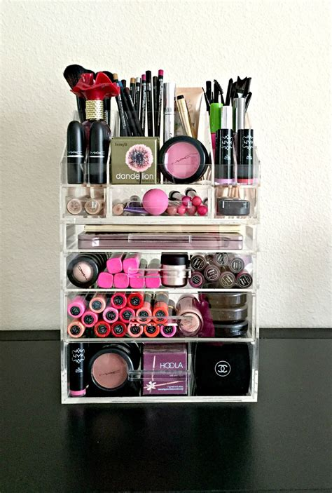 Drawer Organizer For Makeup by Acrylic Makeup Organizer 4 Drawer With Storage By
