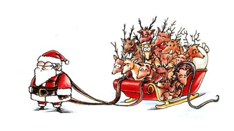 best art of santa and eight teindeer santa and his merry reindeer by rawbot on deviantart