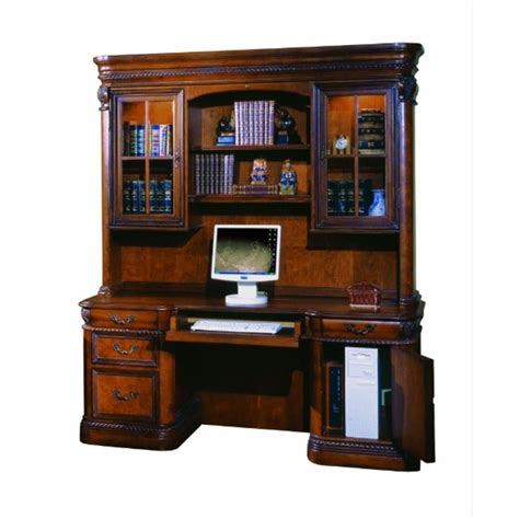 I74 323 Aspen Home Furniture Napa Home Office Credenza Hutch Aspen Home Office Furniture