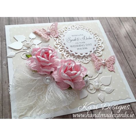 Handcrafted Wedding Cards - handmade wedding wishes card