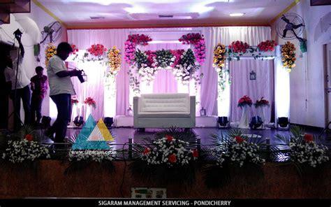 wedding reception decorations wedding stage decoration in jvs mandapam tindivanam
