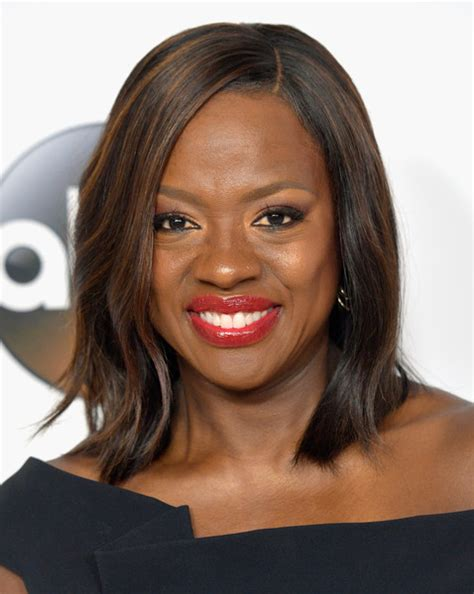 shoulder length straight hairstyles housewife of beverly hill more pics of viola davis medium straight cut 1 of 2