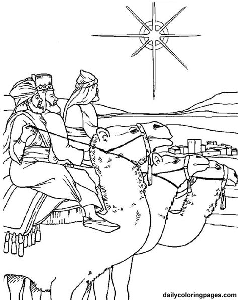 Http Dailycoloringpages Com Images Three Wise Men Coloring Pages Bethlehem