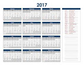 annual calendar template format 2017 excel yearly calendar free printable templates