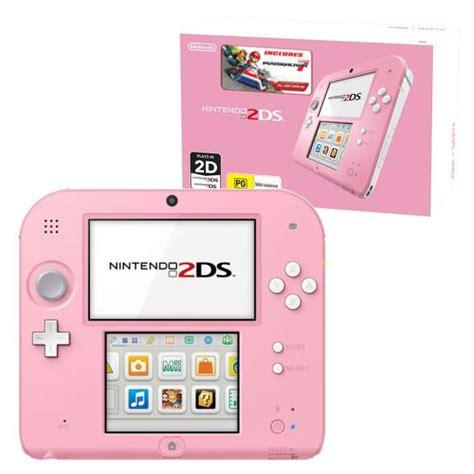 nintendo 2ds console nintendo 2ds mario kart 7 console bundle pink white