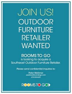 rooms to go ad rooms to go seeks outdoor retail acquisition furniture today