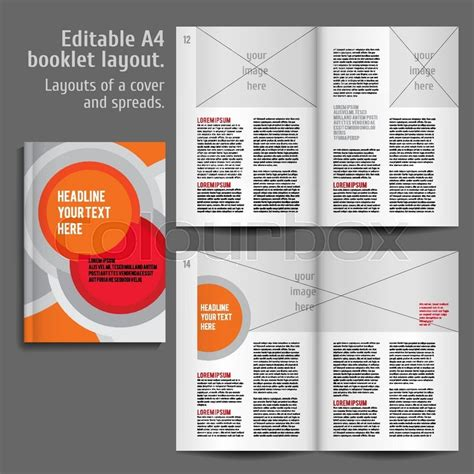 flyer text layout modern vector abstract brochure report or flyer design
