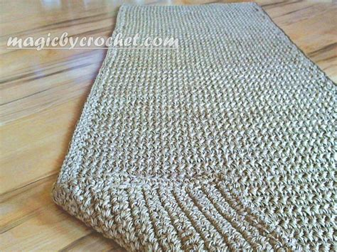 how to make a jute rug hallway runner rug handmade jute crochet rug no 032