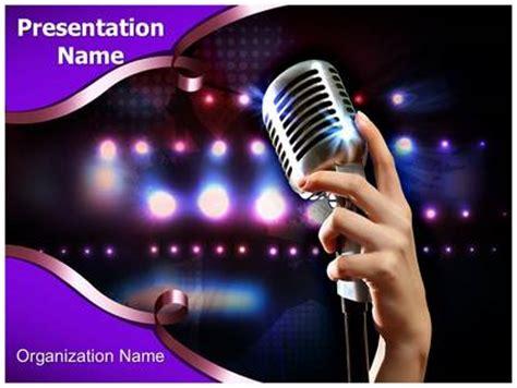 template powerpoint karaoke karaoke night powerpoint template background