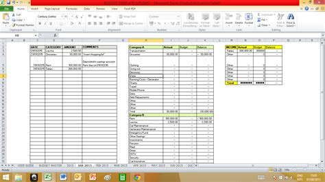 50 30 20 Budget Spreadsheet by 50 30 20 Budget Spreadsheet Spreadsheets