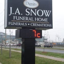 j a snow funeral home funeral services cemeteries