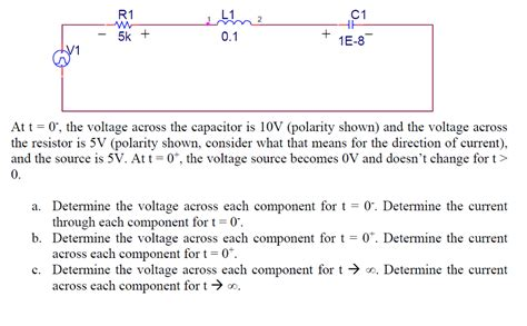 capacitor voltage at t 0 voltage across capacitor t 0 28 images the initial voltage across the capacitor shown chegg