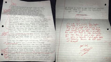 Apology Letter Graded Student Grades His Ex S Apology Letter And