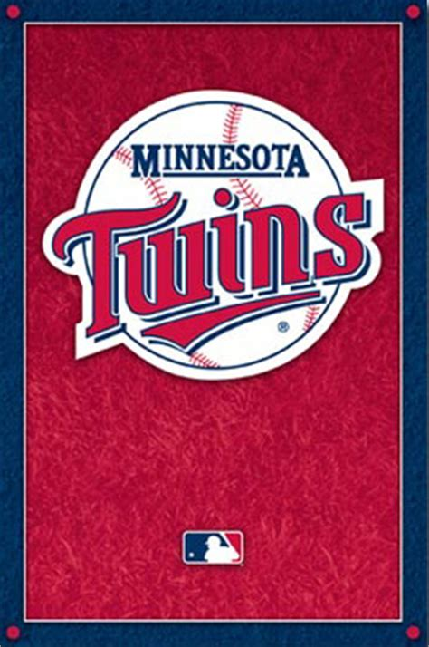 minnesota twins baseball mlb team logo poster photo