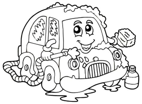coloring page car wash wash coloring pages car best place to color sketch