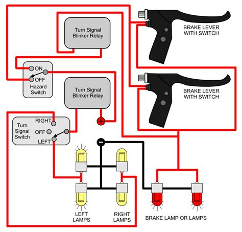 simple ke turn signal wiring diagram simple harley wiring