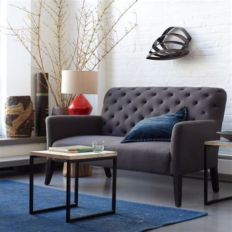 elton settee elton settee settees west elm and irons