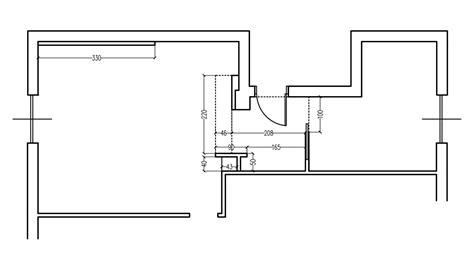 porte scorrevoli pianta zona giorno contemporanea progetto con pianta e prospetti