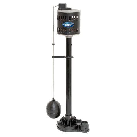 scow pump superior pump 1 3 hp non submersible pedestal sump pump